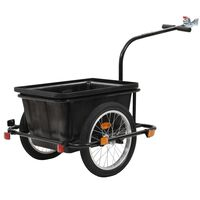 vidaXL Remorque pour bicyclette 50 L Noir