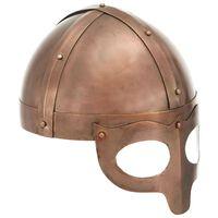vidaXL Casque de viking de réplique antique pour GN Cuivre Acier