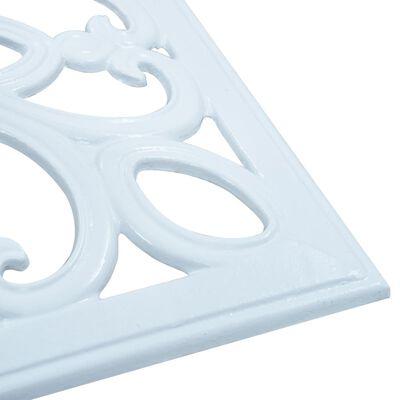 vidaXL Socle de parasol Blanc 12 kg 49 cm Fonte