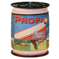 Kerbl Ruban de clôture Profi 200 m TriC 20 mm Blanc-rouge