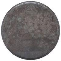 vidaXL Dessus de table Noir Ø40x2,5 cm Marbre