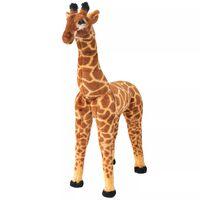 vidaXL Jouet en peluche Girafe Marron et jaune XXL