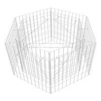 vidaXL Lit surélevé à gabion hexagonale 100 x 90 x 50 cm