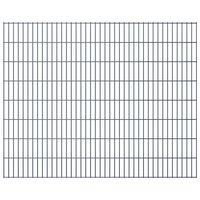 vidaXL Panneaux de clôture de jardin 2D 2,008x1,63 m 12 m total Gris