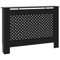vidaXL Cache-radiateur Noir 112x19x81 cm MDF