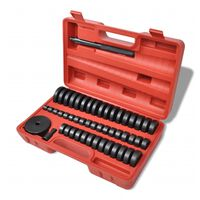 vidaXL Ensemble de palier de coussinet Disques 18 – 65 mm 51 pcs