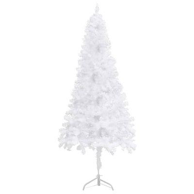vidaXL Sapin de Noël artificiel d'angle Blanc 120 cm PVC