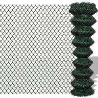 vidaXL Clôture à mailles losangées Acier 1,5x25 m Vert