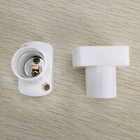 Support de lampe carré blanc de haute qualité pour ampoules à LED