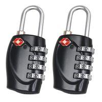 2 X Cadenas Avec Combinaisons De Haute Scurit 4-Dial TSA Pour Les