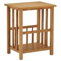 vidaXL Table à revues 45x35x55 cm Bois de chêne solide