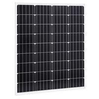 vidaXL Panneau solaire 80 W Monocristallin Aluminium Verre de sécurité