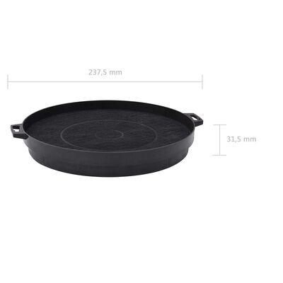 vidaXL Filtres à charbon pour hotte de cuisine 2 pcs 210 mm
