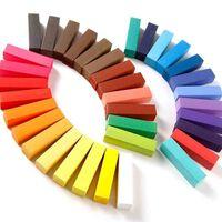 Ensemble de 36 couleurs temporaires pour cheveux, craies pour teinture