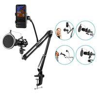 Pied de microphone pantographe pour support support de bras de perche