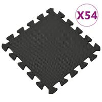 vidaXL Tapis de sol 54 pcs 4,86㎡ Mousse EVA Noir