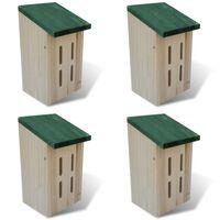 Set de 4 maisons pour paillons 14 x 15 x 22 cm