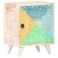 vidaXL Table de chevet sculptée 40x30x50 cm Bois d'acacia massif