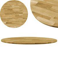 vidaXL Dessus de table Bois de chêne massif Rond 23 mm 400 mm