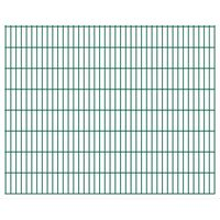 vidaXL Panneaux de clôture de jardin 2D 2,008x1,63 m 4 m total Vert