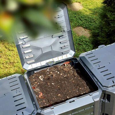 vidaXL Composteur de jardin Noir 1600 L