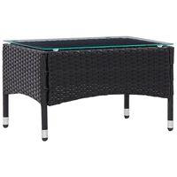 vidaXL Table basse Noir 60x40x36 cm Résine tressée