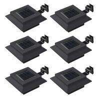 vidaXL Lampe solaire à LED carrée d'extérieur 6 pcs 12 cm Noir