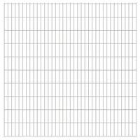 vidaXL Panneaux de clôture de jardin 2D 2,008x2,03m 20 m total Argenté