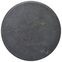 vidaXL Dessus de table Noir Ø70x2,5 cm Marbre