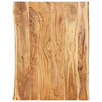 vidaXL Dessus de table Bois d'acacia massif 80x(50-60)x2,5 cm