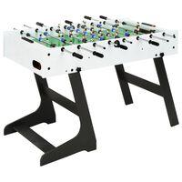 vidaXL Table de football pliante 121 x 61 x 80 cm Blanc