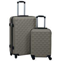 vidaXL Ensemble de valises rigides 2 pcs Anthracite ABS