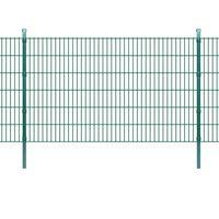 vidaXL Panneaux et poteaux de clôture 2D pour jardin 2008x1230 mm 40 m