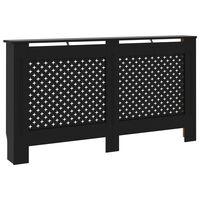 vidaXL Cache-radiateur Noir 152x19x81 cm MDF