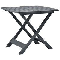 vidaXL Table pliable de jardin  Anthracite 79x72x70 cm Plastique