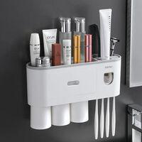 Porte-brosse à dents magnétique mural, presse-étoupe étanche pour