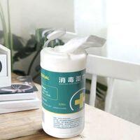 100pcs lingettes humides de désinfection jetables main soins de