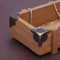 12pcs meubles coin décoratif bijoux anciens cadeau boîte en bois