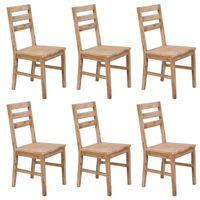 vidaXL Chaises de salle à manger 6 pcs Bois d'acacia solide