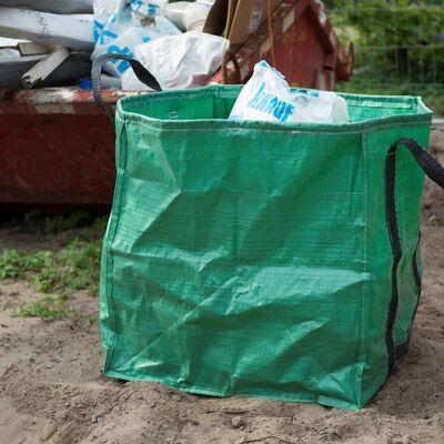 Nature Sac à déchets de jardin carré Vert 148 L