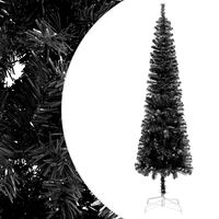 vidaXL Sapin de Noël étroit Noir 210 cm