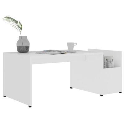 vidaXL Table basse Blanc 90x45x35 cm Aggloméré