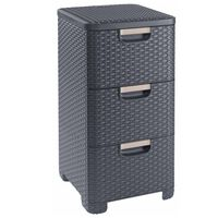 Curver Armoire à tiroirs Style 42 L Anthracite