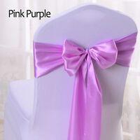 Couverture de noeud d'arc de chaise de ceinture de satin rose