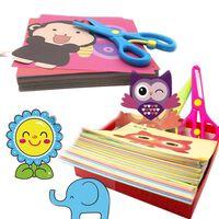 Artisanat de livre découpé en papier fait à la main pour enfants -