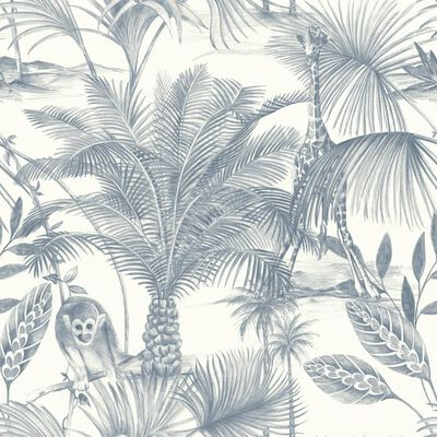 DUTCH WALLCOVERINGS Papier peint Kidatu Bleu et blanc