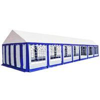 vidaXL Chapiteau de jardin PVC 6x14 m Bleu et blanc