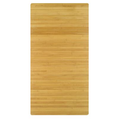 Kleine Wolke Tapis de bain Bambus 60x115 cm Marron