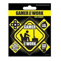 Autocollants en vinyle - Gamer at Work