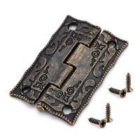 10pcs mini charnière décorative de style antique pour armoire /